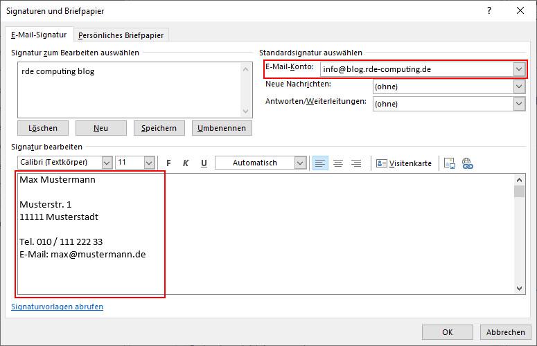 Outlook Signatur ändern: Signatur bearbeiten oder neu anlegen