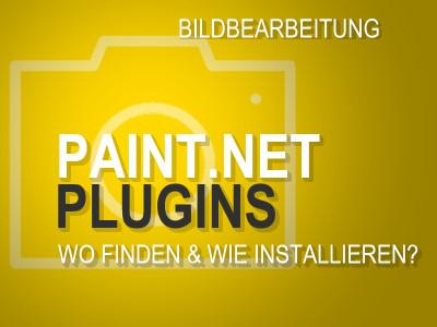 Paint.NET-Plugins: wo finden & wie installieren?