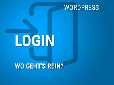 Wo kann ich mich in WordPress einloggen?