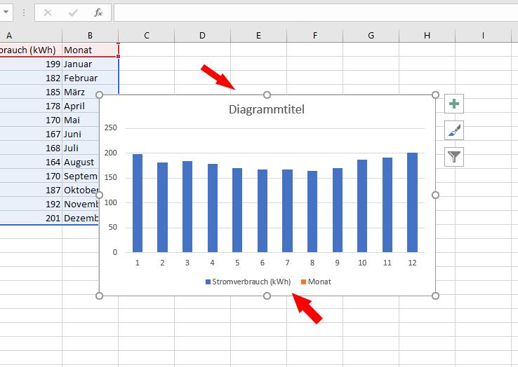 Diagramm aus Excel-Tabelle erstellen: Details anpassen